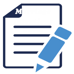 Printable Marriage Intentions Form